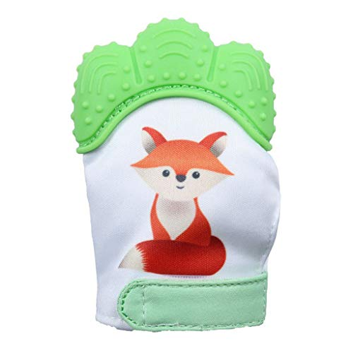 Zohto Simple 2019 Spring Baby Silicone Fox Mitts Teething Mitten Molars Glove ()