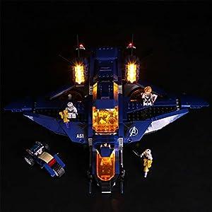 Yavso Jeu de Lumières pour Lego Marvel Super Heroes Avengers Modèle – Kit Eclairage a LED Compatible avec Lego 76126…