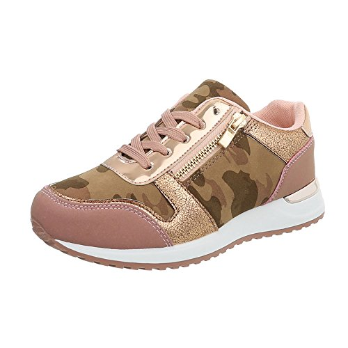 Femmes Sneakers Bas Rose Chaussures design Italien Casual ZdqdHTw