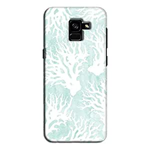 Cover It Up - Blue White Nature Print Galaxy A7 2018 Hard Case