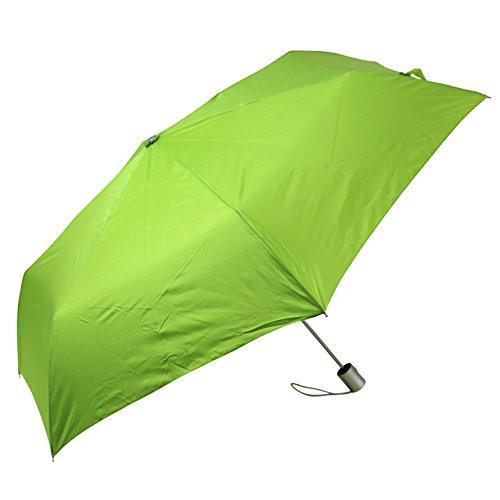 (Auto Open and Close, Self Closing, Tiny Mini Umbrella - by London Fog- Green)