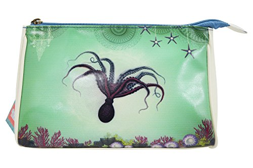 Lavishy Ocean Dream Mystic Octopus Deep Sea Paradise Art Makeup Pouch