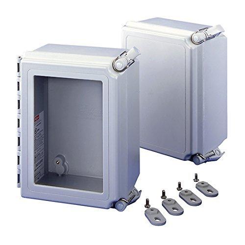 Pentair Fiber - Pentair Hoffman A664CHSCFGW Hinged Fiberglass NEMA 4X Enclosure, Window/Screw, 6x6x4