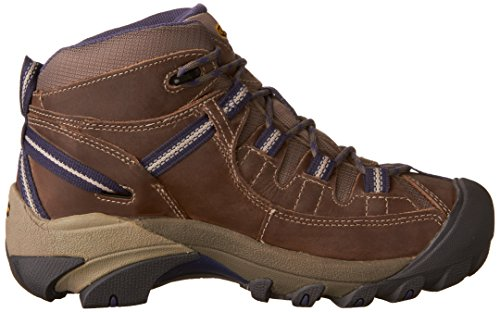 Keen Women's Targhee Ii Mid High Rise Hiking Boots, Brown, 8.5 UK Goat/Crown Blue
