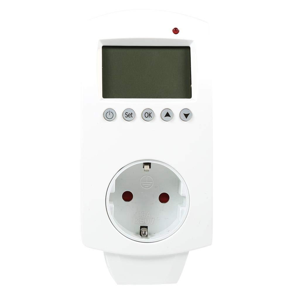 B FTVOGUE Conector programable termostato inserci/ón Termostato Digital Programable Regulador de Temperatura con Salida