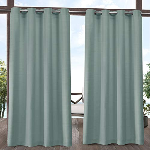 Exclusive Home Curtains Delano Panel Pair, 54x96, - Outdoor Curtain Green