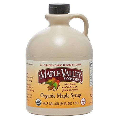 (Maple Valley Grade A Dark & Robust (formerly Grade B) Organic Maple Syrup - 1/2 Gallon (64 Oz) BPA-free Jug)
