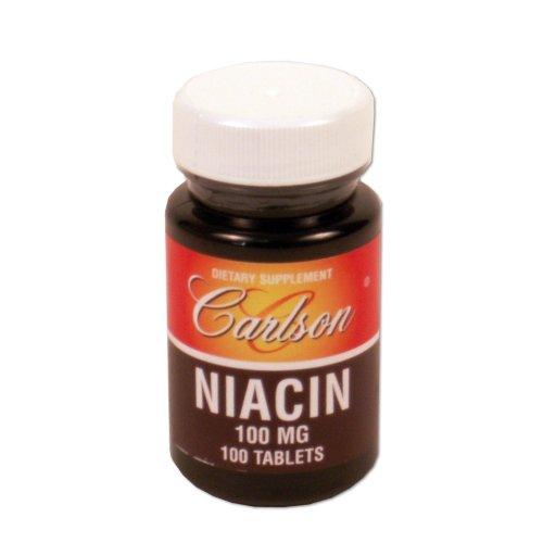 Carlson Labs Niacine, 100 mg, 100 comprimés