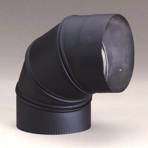Heat-Fab 2614AB 6'' 90 Degree Adjustable Elbow, Black