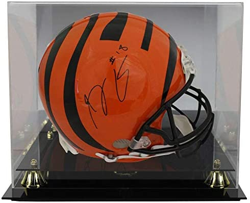 8247b4099d9 AJ Green Autographed Signed Cincinnati Bengals Proline Helmet JSA With  Deluxe Football Helmet Display Case