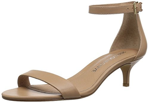 206 Collective Women's Eve Stiletto Heel Dress Sandal-Low Heeled, Neutral Leather, 6 B US