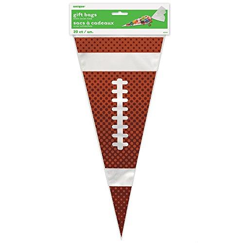 Football Cone Cellophane Bags 20ct