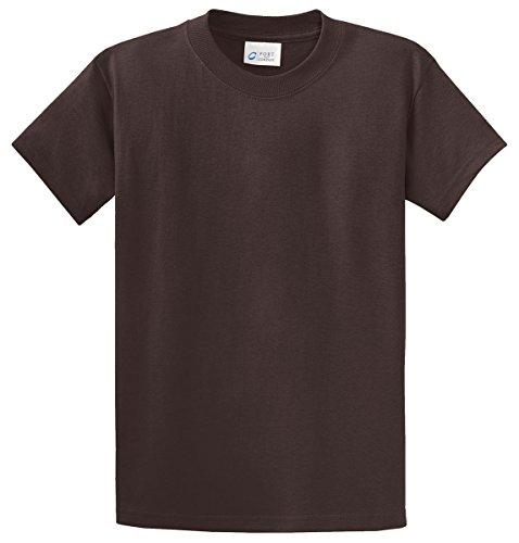 Port & Company Tall 100% Cotton Essential TShirt PC61T,X-Large Tall,Dark Chocolate Brown (Chocolate Ash Grey T-shirt)