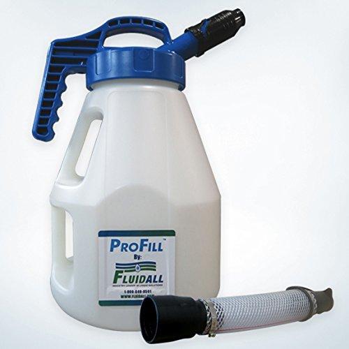 10L Oil Drum with Blue Pour Lid, 1'' Nozzle with Extension Hose