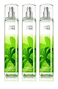 Lot of 3 Bath Body Works White Citrus 8.0 oz Fine Fragrance Mist