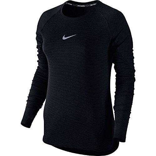 Nike Women's Aeroreact Long Sleeve Running Top Black 686955 010 (s)