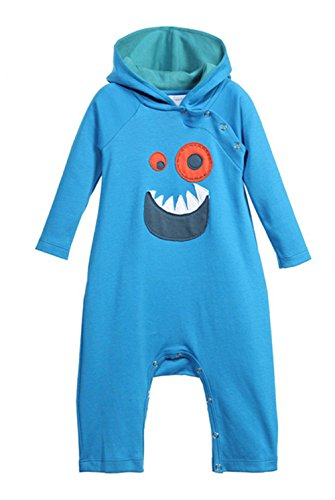 Dragon Infant Creeper (StylesILove Baby Boy 3D Long Sleeves Hoodie Costume Romper (80/6-12 Months, Monster))