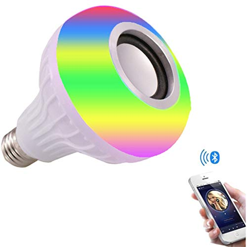 Sodoop Wireless LED Light Bulb,RGB E27 Smart Music Lamp Bulit-in Audio Speaker with Remote Control for Home, Stage, Party,Halloween,Decorations,Stage