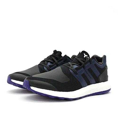 Adidas Man Y-3 Pureboost Svart / Blå Mesh Kärna Svart / Svarta Iris / Amazon Lila