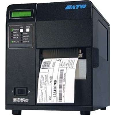 (SATO WM8460281 M84PRO (6) With Dispenser 4.4 inch Printer 609DPI Wireless 802.11G Print Server)