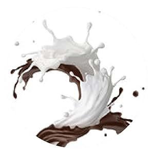 alfombrilla de ratón Milkshake de chocolate mezclado salpicaduras aislado en blanco - ronda - 20cm
