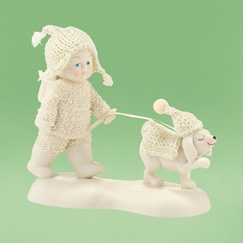 "Department 56 Snowbabies ""Dog Days of Winter"" Porcelain Figurine, 4.5"""