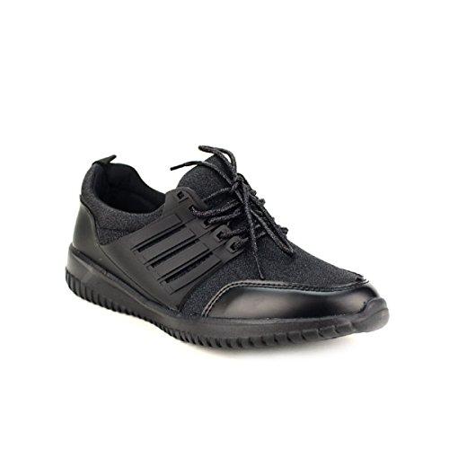 Chaussures Cendriyon Noir Noire It Basket Run Femme Paillettes qffXrznw