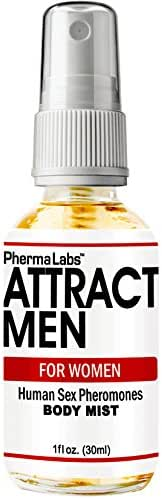 PhermaLabs Attract Men Instantly Pheromones Body Mist For Women- 1 oz (30ml)- Highest Concentration Of Pheromones Possible- Increases Sex Drive- Fresh & Long-lasting Smell