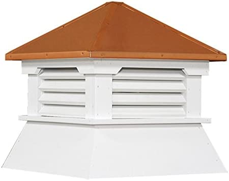 """16"""" Vinyl Shed Cupola with Copper Roof"""