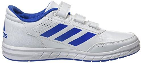adidas Altasport Cf, Zapatillas de Gimnasia Unisex Niños Blanco (Footwear White/blue/footwear White)