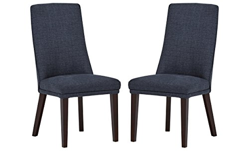 Stone Beam High-Back Dining Chairs, 38 H, Set of 2, Navy