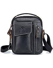 Męska skórzana torebka torba na ramię iPAD biznesowy plecak kurierski crossbody na co dzień torba podróżna z górnym uchwytem i regulowanym odpinanym paskiem na ramię