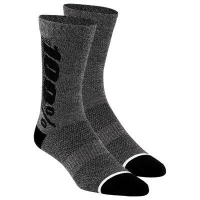 100% Unisex-Adult Speedlab (24006-052-18)''RYTHYM Merino Performance Socks Charcoal Heather X-Large, Large/X-Large)
