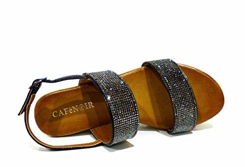 CafèNoir  Hm918-010 Nero, Chaussures à brides femme