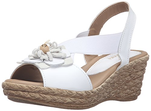 Azura By Spring Step Womens Sandalo Con Zeppa In Rubino Bianco