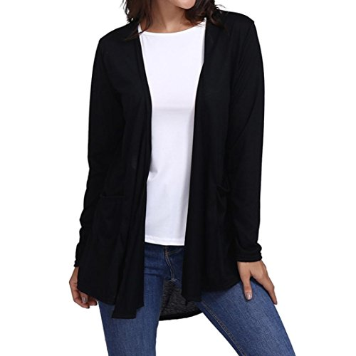 005c96606c83ef OSTELY Women's Casual Open Front Breathable Cardigans Shirt Tops Blouse.  Tap to expand