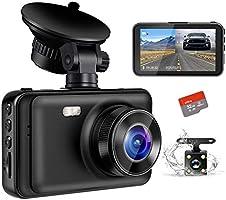 【2020最新版・超暗視型ドラレコ】 ドライブレコーダー 前後カメラ Sony IMX294センサー 32GB SDカード付き 170度広角 360度回転 駐車監視 常時録画 暗視機能 動体検知 上書き録画 G-sensor...
