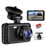 Dash Camera for Cars, YOCHOS 1080P Front and Rear Dual Dash Cam, 3' LCD Screen 170° Wide Angle Dash Cam with Night Vision WDR G-Sensor Parking Monitor Loop Recording Motion Detection.(SD Card Include)