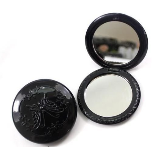 Vintage Black Butterfly Style 2 Sides Compact Cosmetic Mirror by Iebeauty