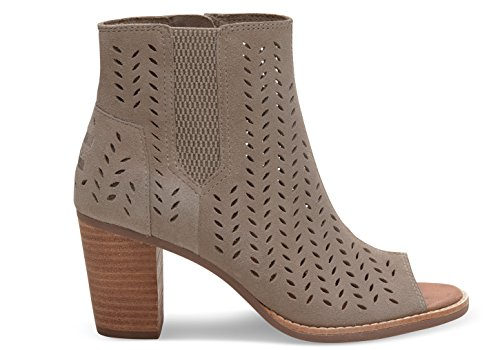 bfd0083de83 TOMS SUEDE PERFORATED WOMEN S LUNATA BOOTIES - Import ...