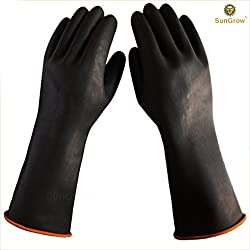 """SunGrow 2 Aquarium Water Change Gloves (14"""") - Keep Hands & arms Dry, allergen- and Contamination-Free During Fish Tank Maintenance: Elastic Forearm Seal and Prevent leaks: Heavy-Duty Construction"""