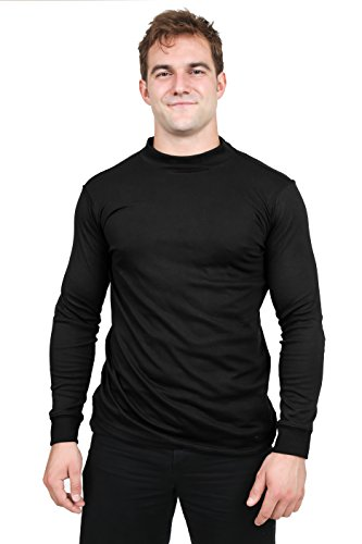 Utopia Wear Men's Cotton Blend Interlock Mock...