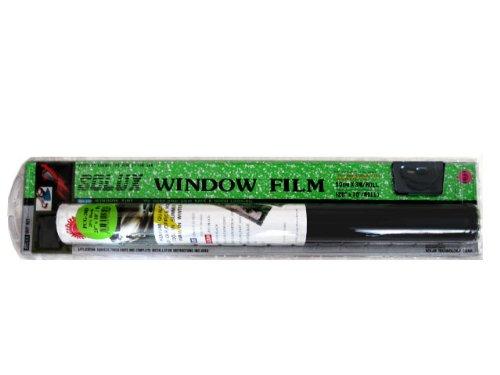 Window Tint Film Do It Yourself Kit - Dark Black 10% Original Solux (Do It Yourself Installation)