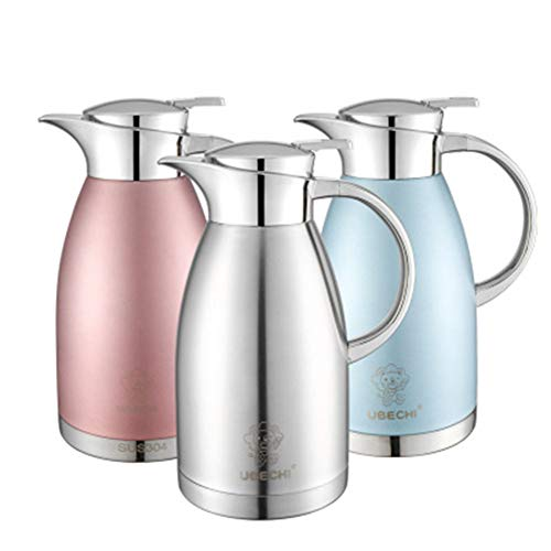 Price comparison product image Usmayple 304 Stainless Steel Vacuum Portable Domestic Hot Water Thermos Available in Two Size Three Colours Large Capacity Stainless Steel Liner, Silver