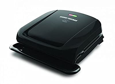 George Foreman GRP1060B 4 Serving Removable Plate Grill, BlackGY#583-4 6-DFG275861