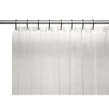 Carnation Home Fashions 10-Gauge PEVA 72 by 96-Inch Shower Curtain Liner, X-Long, Super Clear