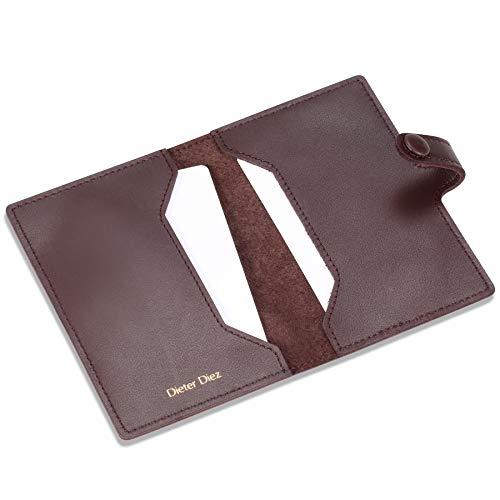 - HISCOW Minimalist Thin Bifold Card Holder - Italian Calfskin (Dieter Diez, Coffee)