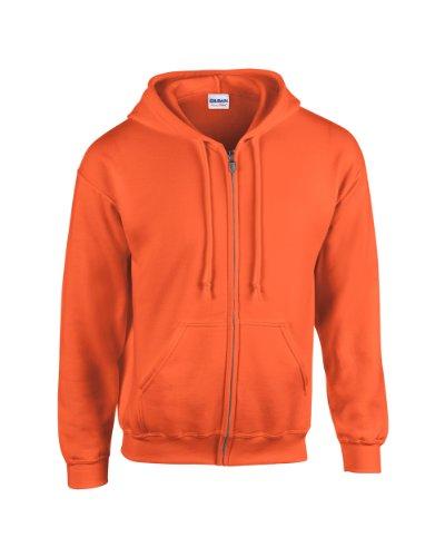 Gildan Heavy BlendTM Adult Full Zip Hooded SweatShirt Orange S