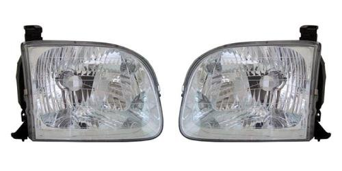 - Go-Parts PAIR/SET OE Replacement for 2001-2004 Toyota Sequoia Front Headlights Headlamps Assemblies Front Housing/Lens / Cover - Left & Right (Driver & Passenger) Side for Toyota Sequoia