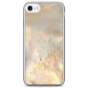 iPhone 8 Transparent Edge Phone case Elegant Texture Phonce Case Gold Marble Phone Case Dark Phone Case Black Gold iPhone 8 Cover with Transparent Bumper